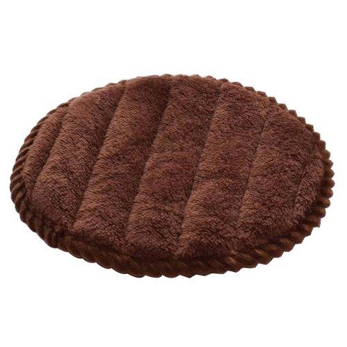 [U] Soft Flannel Round Stool Cover Bar Stool Seat Pad