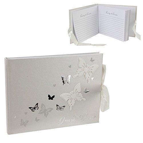 Country Baskets Juliana Love Butterfly Guest Book - Wedding Gift Wings -  book guest butterfly wedding love gift wings juliana country baskets