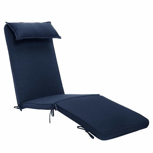 Super Plant Theatre Luxury Steamer Chair Cushion With Head Pillow In Cool Navy Ibusinesslaw Wood Chair Design Ideas Ibusinesslaworg
