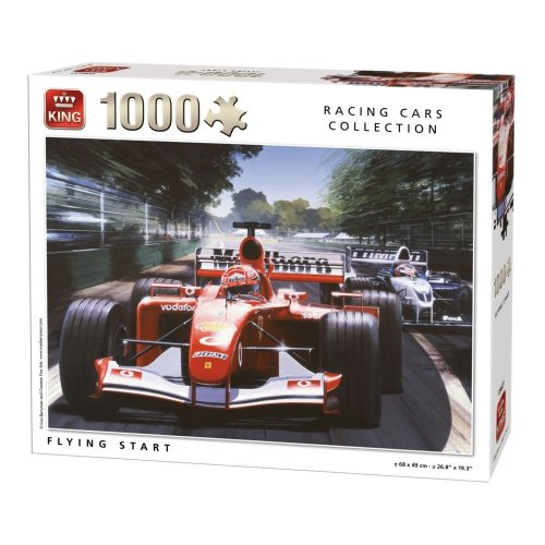 Kng05627 - King Puzzle Race 1000 Pc - Flying Start
