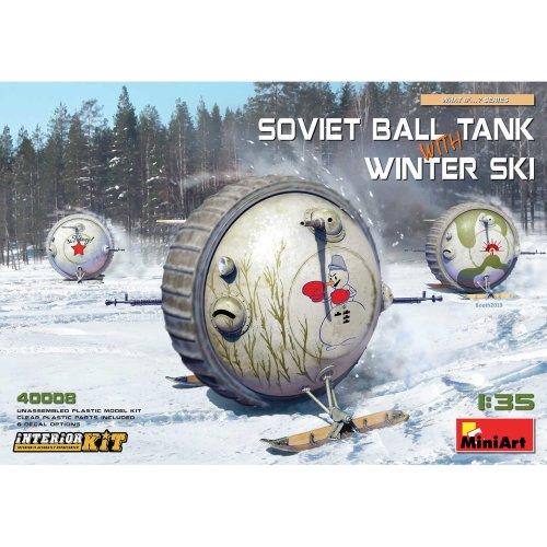 MIN40008 - Miniart 1:35 - Soviet Ball Tank w/ Winter Ski, Int Kit