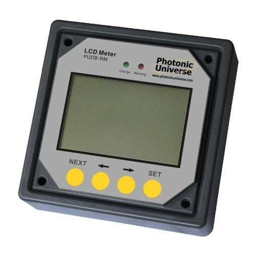 Remote LCD meter/display for 10A and 20A Photonic Universe dual battery solar charge controller (with 10m cable)
