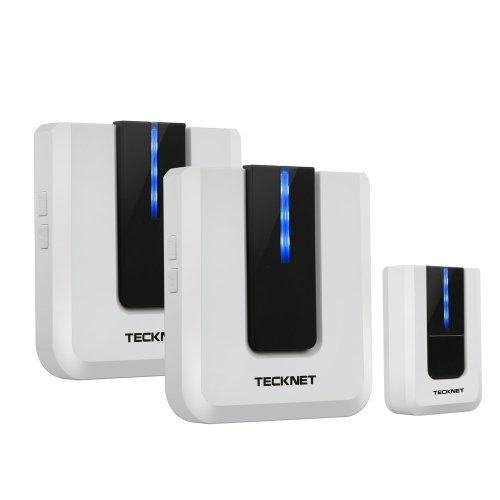 TeckNet Twin Mains Plug-in Wireless Cordless Doorbell Door Chime