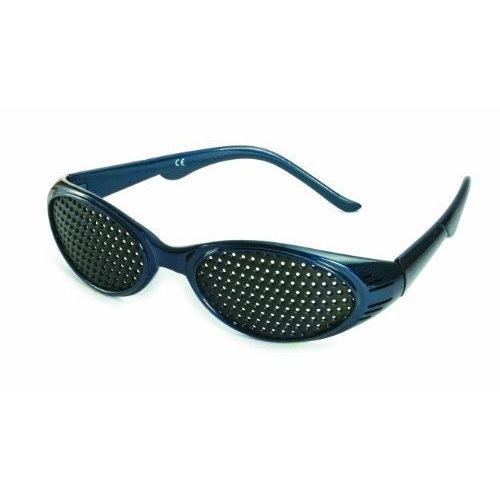 KBG Top Modern Grid Glasses in Metallic Blue, Made in Germany! Pinhole glasses, grill glasses