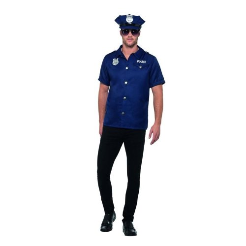 US Cop Costume, Cops & Robbers Fancy Dress, Large