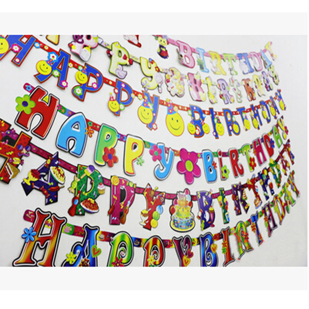 set of 2 cute insect happy birthday banners kids party decorations