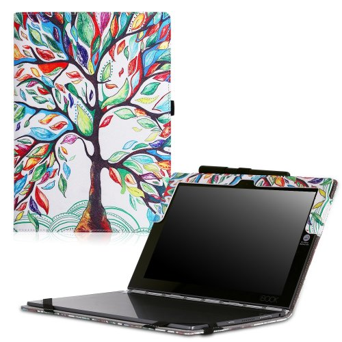 huge discount d2c52 8e833 MoKo Lenovo YOGA Book Case, Ultra Compact Slim Folding Build-in Stand Cover  Case for Lenovo YOGA Book YB1-X90F, YB1-X91F 10.1 Inch 2-in-1 Tablet /...