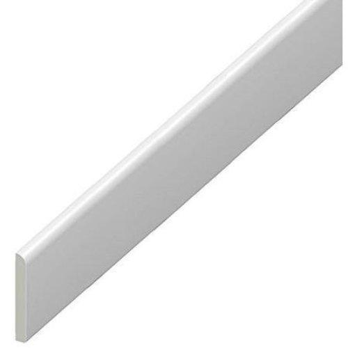 65mm uPVC Architrave - Plastic Skirting Board - 1.25m Length