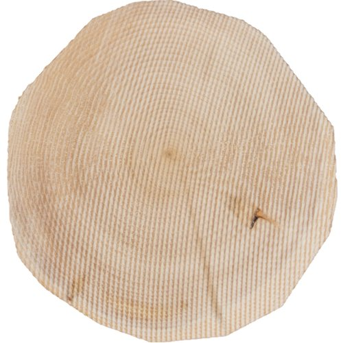 "Craft Decor Wood Coaster 6/Pkg-Round 3.5""X4""X.375"""