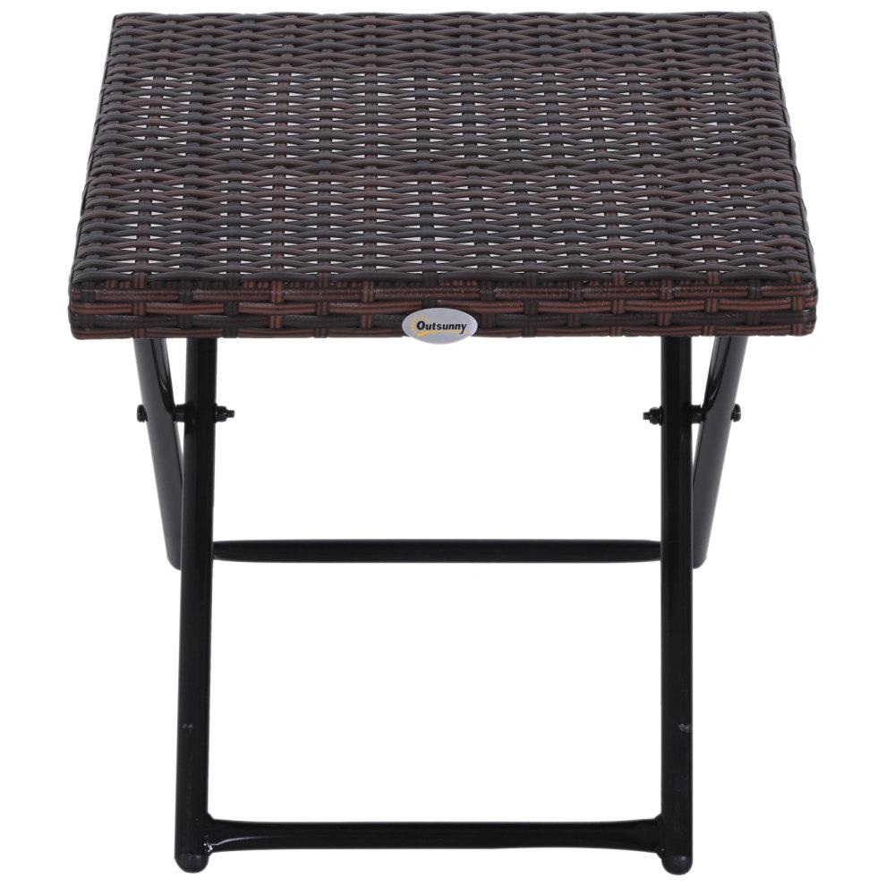 Folding Square Rattan Coffee Table