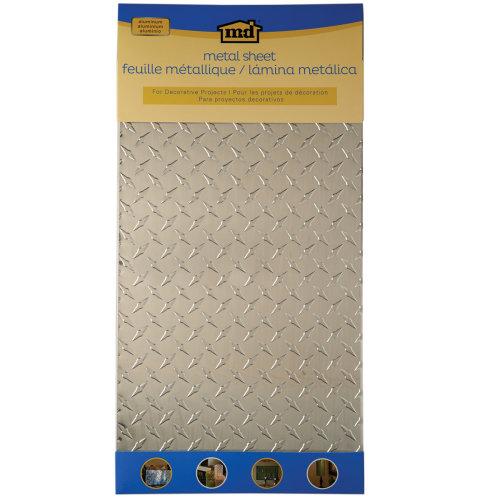 "Aluminum Metal Sheet 12""X24""-Diamond Tread"
