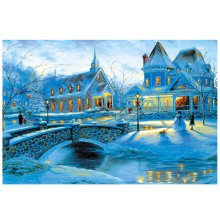Snowscape, Fashionable Wooden Puzzle For Adult 1000 Piece Jigsaw Puzzle