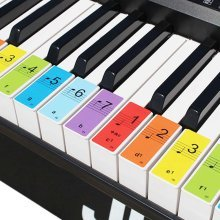 Keyboard or Piano Removable Stickers 88 key Kids Note Stickers