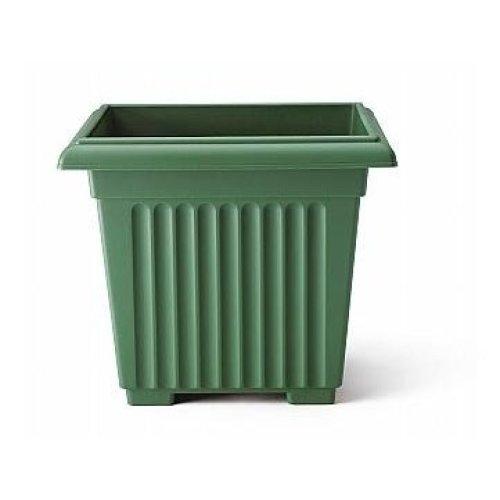 Stewart Corinthian Square Planter, 40 cm - Green