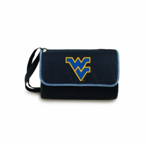 NCAA West Virginia Mountaineers Outdoor Picnic Blanket Tote, Black