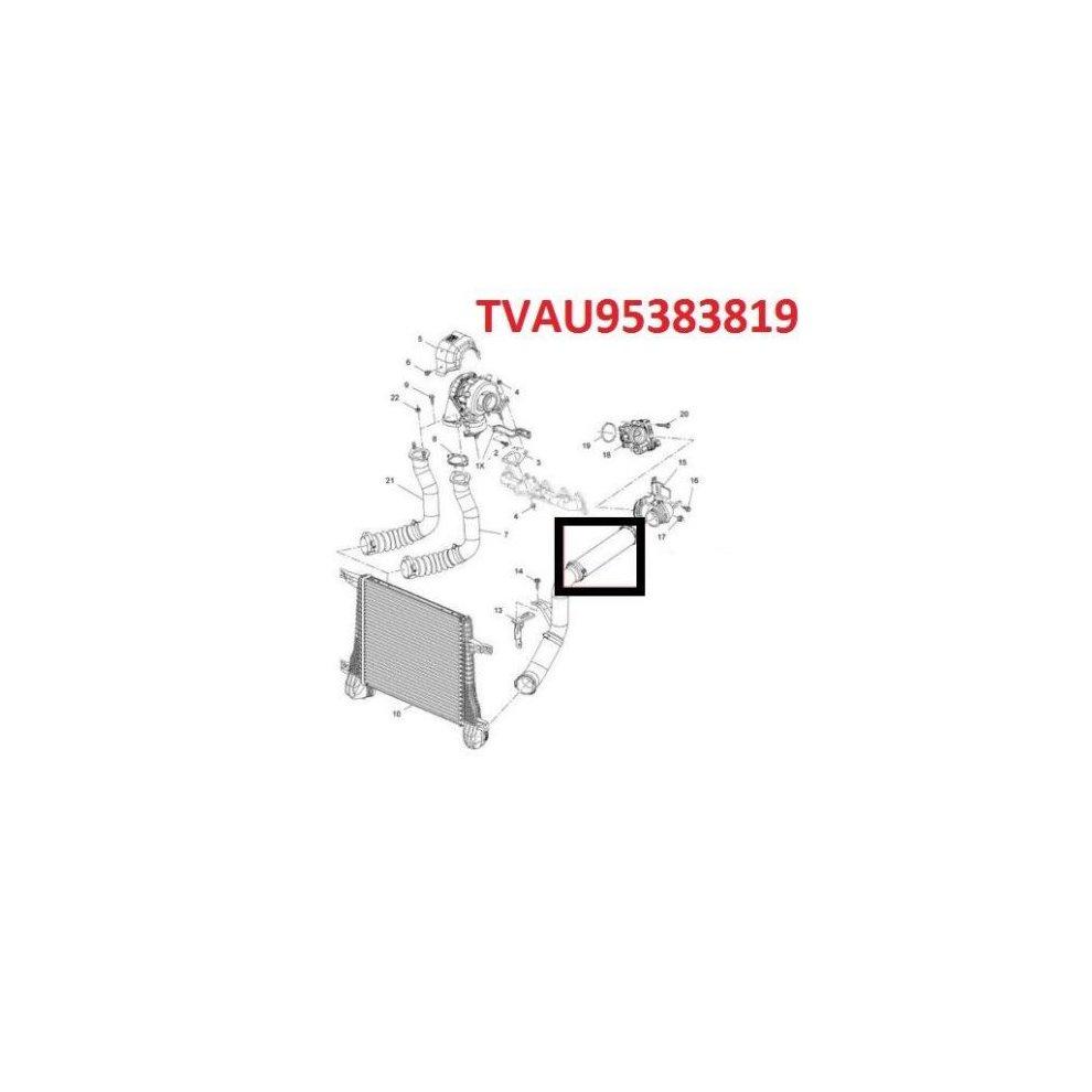 VAUXHALL OPEL ANTARA 2.2 CDTI INTERCOOLER TURBO HOSE PIPE 4820968 95909219