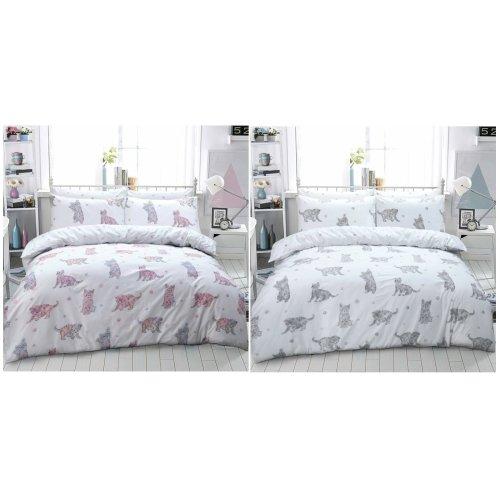 Cat Animal Printed Duvet Quilt Cover Fine Bedding Set