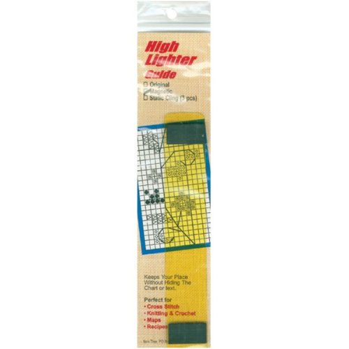 "Yarn Tree Magnetic High Lighter Guide 6""X1""-Yellow"