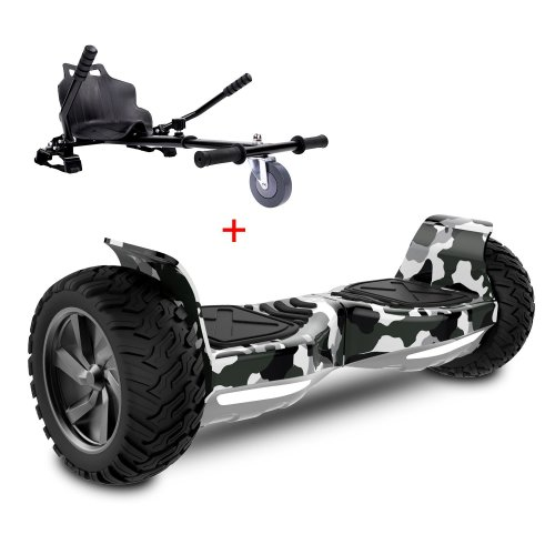 Right Choice Challenger Basic Hoverboard With Hoverkart & Bluetooth - Camouflage