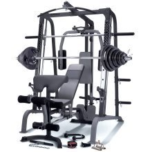 Marcy SM4000 Deluxe Smith Machine Home Gym With 140kg Olympic Weight Set