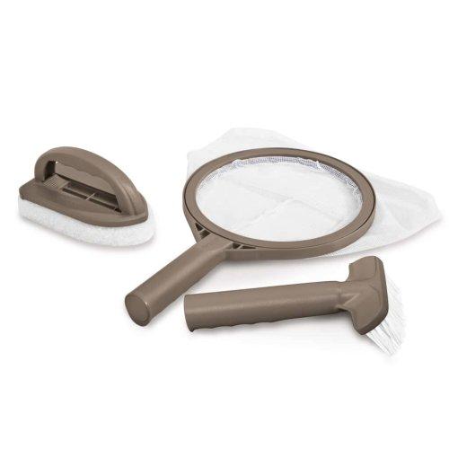 Intex Spa Maintenance Kit  Brush Skimmer Net Scrubber Pad Cleaning Tool 28004