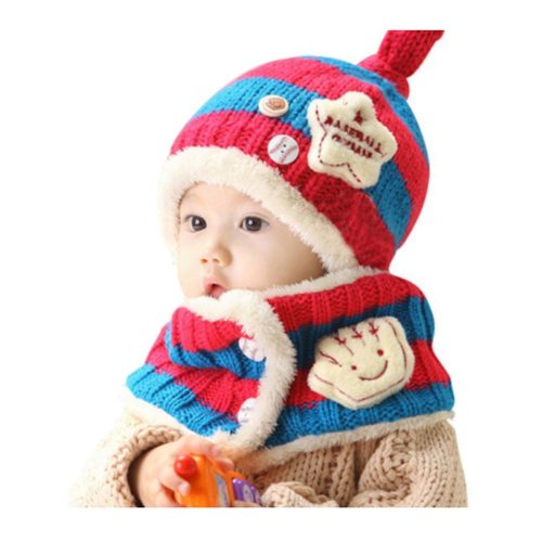 Baby Winter Hat&Scarf Warm and Lovely Baby Cap&Scarf, Style 8