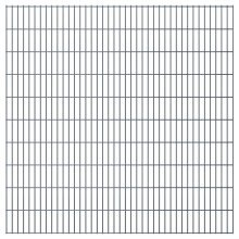 vidaXL 2D Garden Fence Panels 2008x2030 mm 38 m Grey