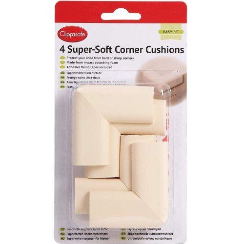 Clippasafe Super-Soft Corner Cushions 4 Pack
