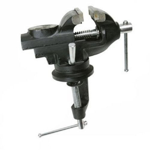 Silverline Table Vice With Swivel Base 50mm - 632607 -  swivel table vice base silverline 50mm 632607
