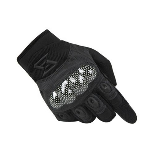 Wear-resistant Antiskid Rock Climbing Riding Gloves BLACK, L
