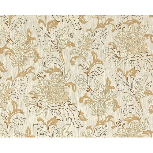 EDEM 604-93 non-woven wallpaper XXL floral design flowers beige brown 10.65 sqm