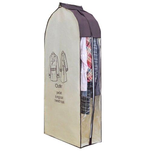 One Storage Garment Shoulder Cover Suit Dust Cover Hanging Coat Pocket 60x28x120CM (L Size)