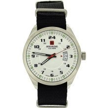 Swiss Military Trooper Black Nylon Fabric Strap Gents Sports Watch SM06-4T1W