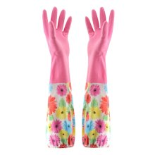 More Durable Clean Rubber Gloves To Wash Dishes Waterproof Gloves Floral