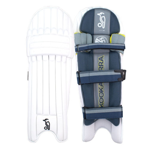Kookaburra 2019 Nickel Pro Cricket Batting Pads Leg Guards White/Blue