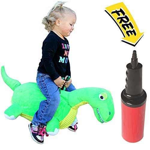 WALIKI TOYS Bouncy Horse Hopper Lala the Dinosaur (Hopping Horse, Inflatable Ride-On Pony, Ridding Horse For Kids, Jumping Horse, Pump Included)
