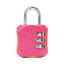 Mini 3 Digits Travel Luggage Suitcase Metal Coded Lock?pink,A