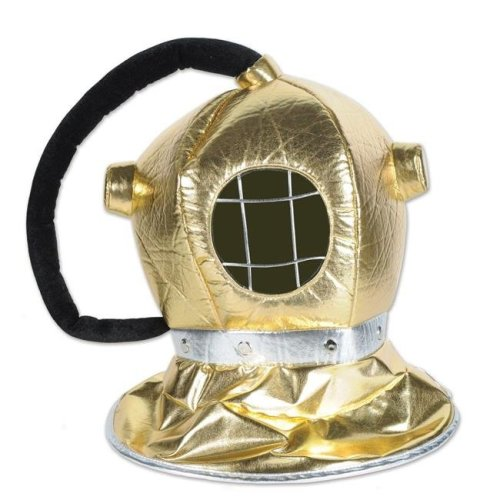 Fabric Diver Helmet, Gold - Pack of 6