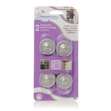 Dreambaby Mini Multi Purpose Latch 5 Pack - Silver