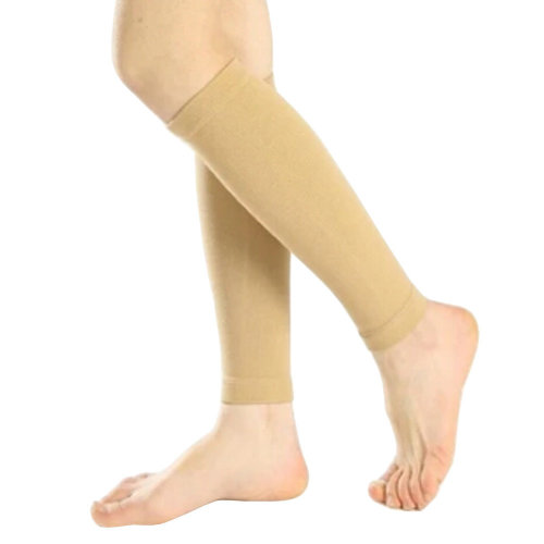 Set of 2 Leg Guard Sports Safety Leg Sleeve Protector Shin Support Skin Color