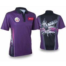XQmax Darts Andy Hamilton Replica Match Shirt Purple Size L QD9200340