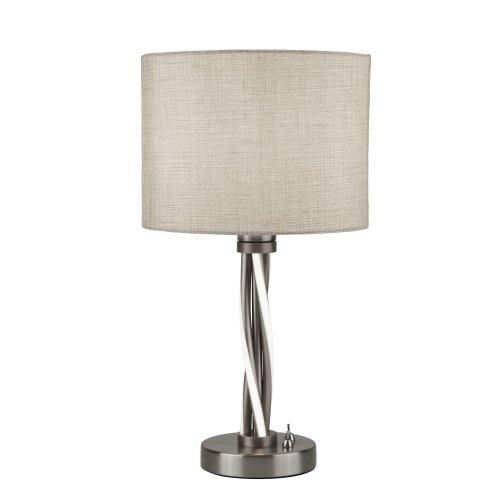 Searchlight Vegas LED Twist Table Light Satin Silver