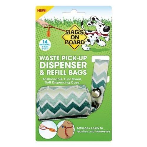 Bags On Board Chevron Fabric Fashion Dog Poo Plastic Bag Dispenser