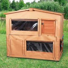 Trixie Protective Cover For Natura Hutch, 103 x 71 x 126cm - Rabbit Hutch -  rabbit hutch cover 126x103x71cm guibea pig cage natura weather frost