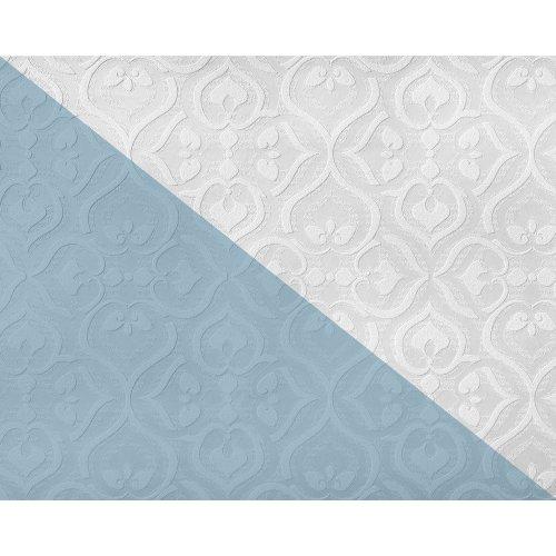 EDEM 83001BR60 Baroque paintable non-woven wallcovering wall matt white 26.50 m2