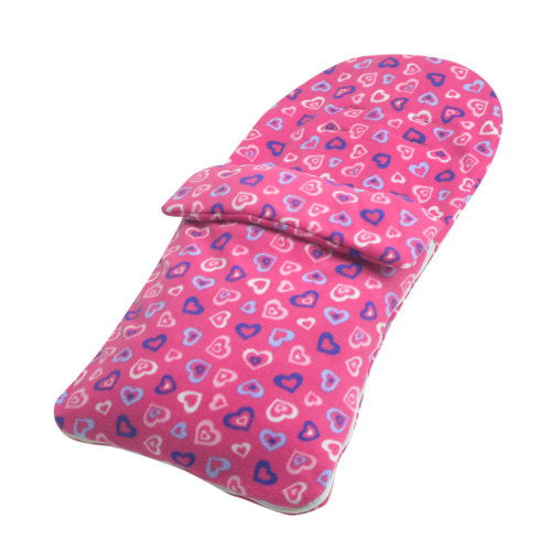 Fleece Footmuff Compatible With Mamas And Papas Stroller Buggy Pram - Pink Hearts