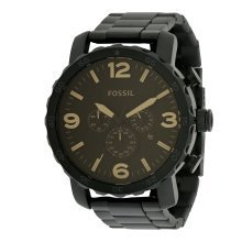 Fossil Chronograph Nate Black Ion Mens Watch JR1356