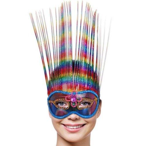 Mask Party Venetian Rainbow Deluxe -  mask rainbow party venetian deluxe fancy dress