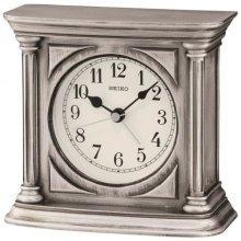 Seiko Antique Finish Mantel Alarm Clock - Silver