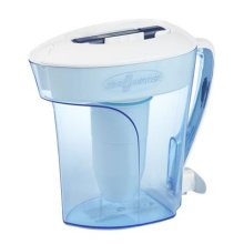 ZeroWater 10 Cup Pitcher with Free TDS Meter, Plastic, Blue, 12.2 x 6 x 11.6 cm